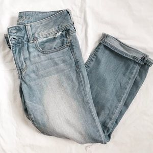 American eagle mid rise distressed jeans